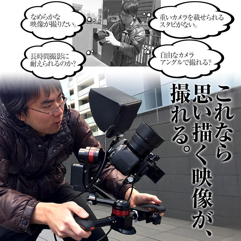デジタル一眼レフで手ブレなし動画撮影!あなたのイメージする画を実現するスタビがこれ!